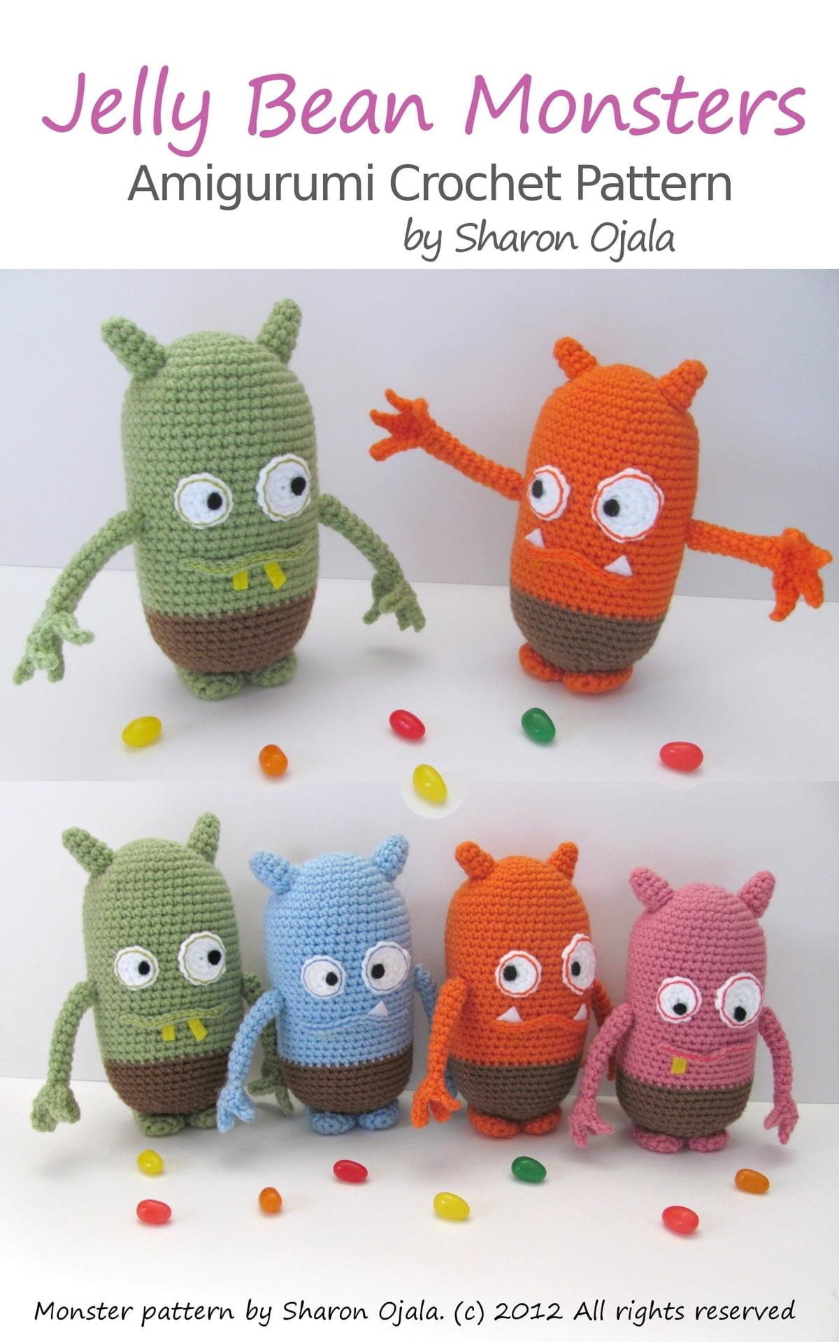 Jelly Bean Monsters Amigurumi Crochet Pattern Ebook By Sharon Ojala