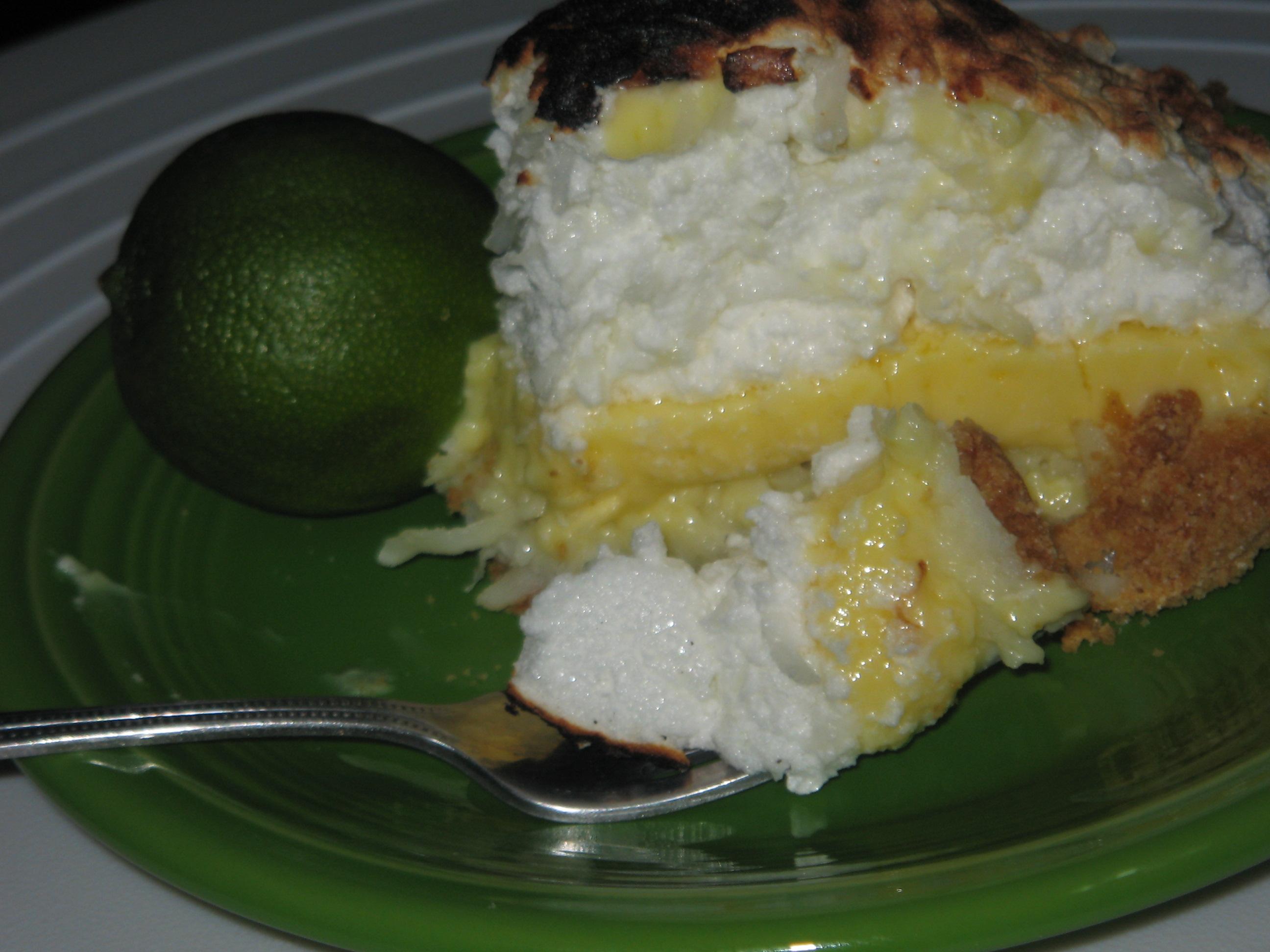 Coconut Key Lime Pie slice