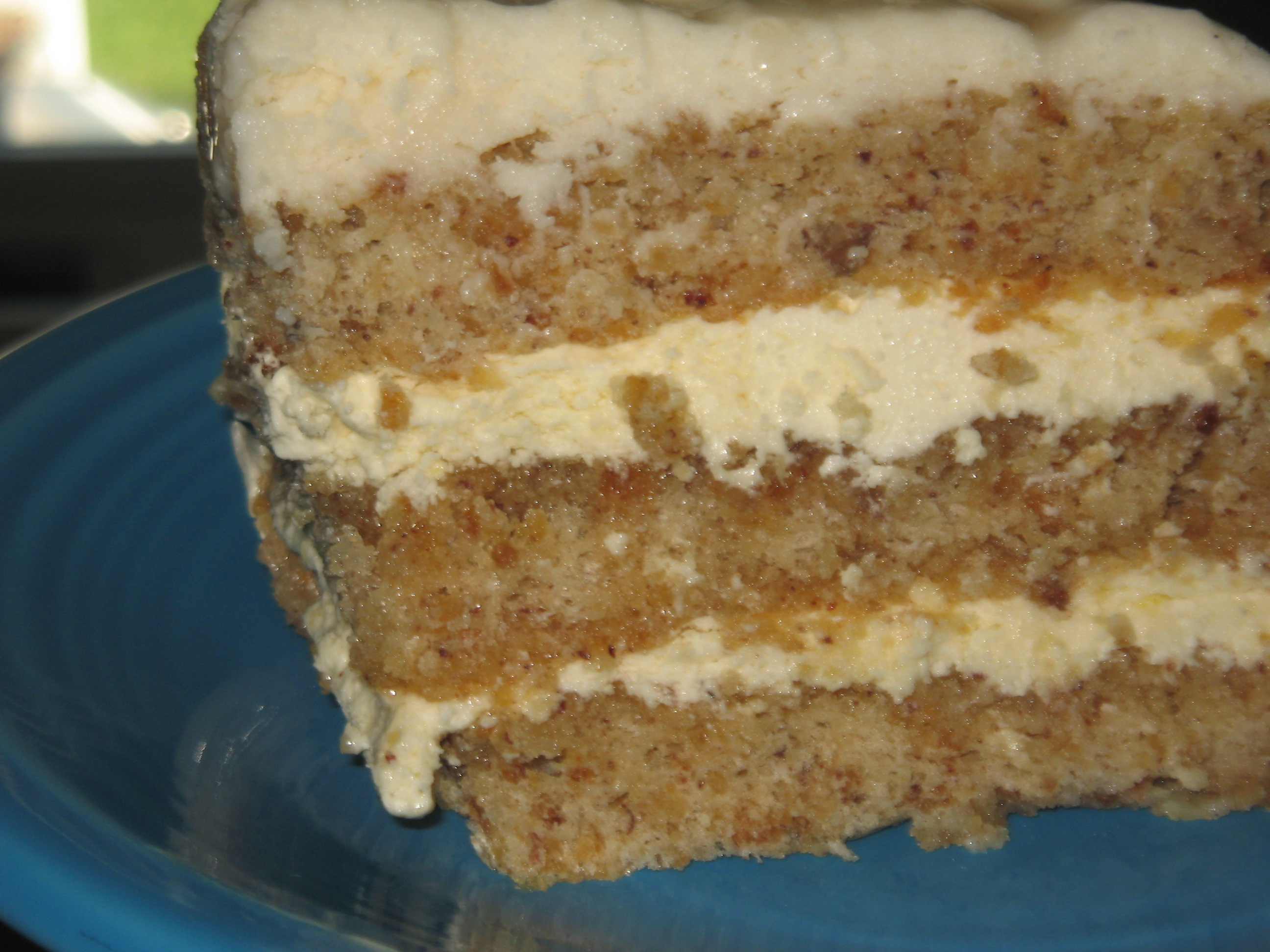 Caramel Vanilla Hazelnut Opera Cake