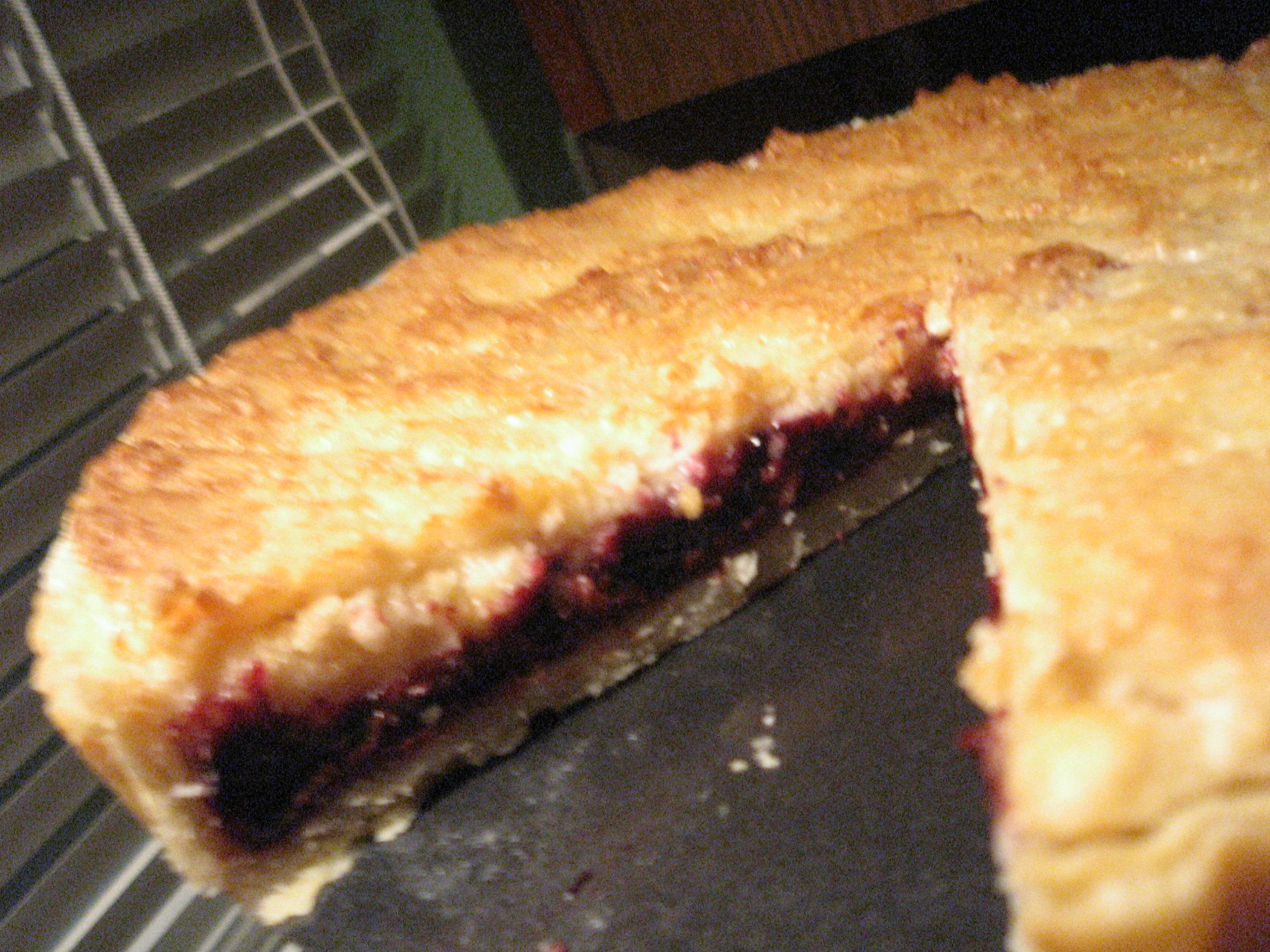 bakewell tart cut