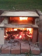 Our red-neck pizza oven.