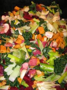 Roasted Colchester vegetables.