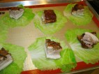 Wrapping the portions in Napa cabbage