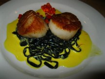 Scallops with squid ink - #1