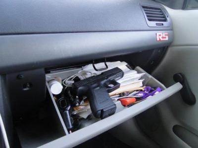 Constructive vs. Actual Possession Handgun in Glovebox Indiana