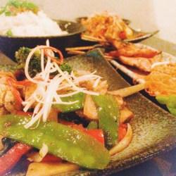 Main - Pad Bai Krapow (Lamb) Classic stir-fried veggies with lamb, garlic and basil.