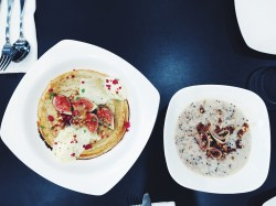 mixed wholegrain porridge & gingerbread pancake