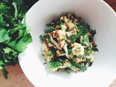 Roasted Cauliflower & Lentil Salad