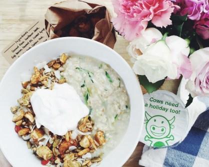 Zucchini Oats + nudie coconut yoghurt