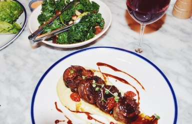 Sovereign Hills Lamb Belly, Kale Salad & matching Red Wine