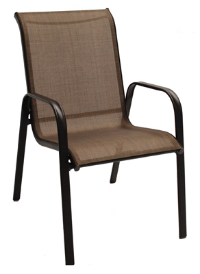 sienna sling stacking chair brown