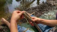WOW Waldwoche: Flossbau aus Naturmaterialien