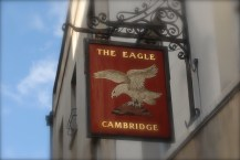 The Eagle, historic pub, Cambridge,