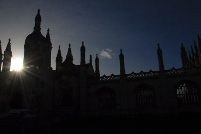 King's College, Cambridge. The Night Climbers love it!