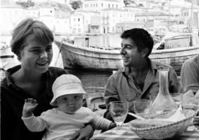 Marianne Jensen with Axel jr. Leonard Cohen, Hydra