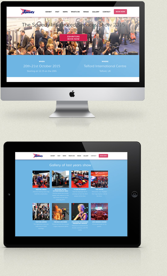 New Speedy Expo website design kent