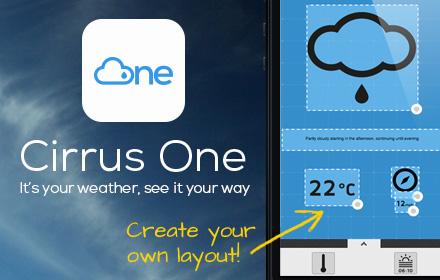 cirrus one weather app design