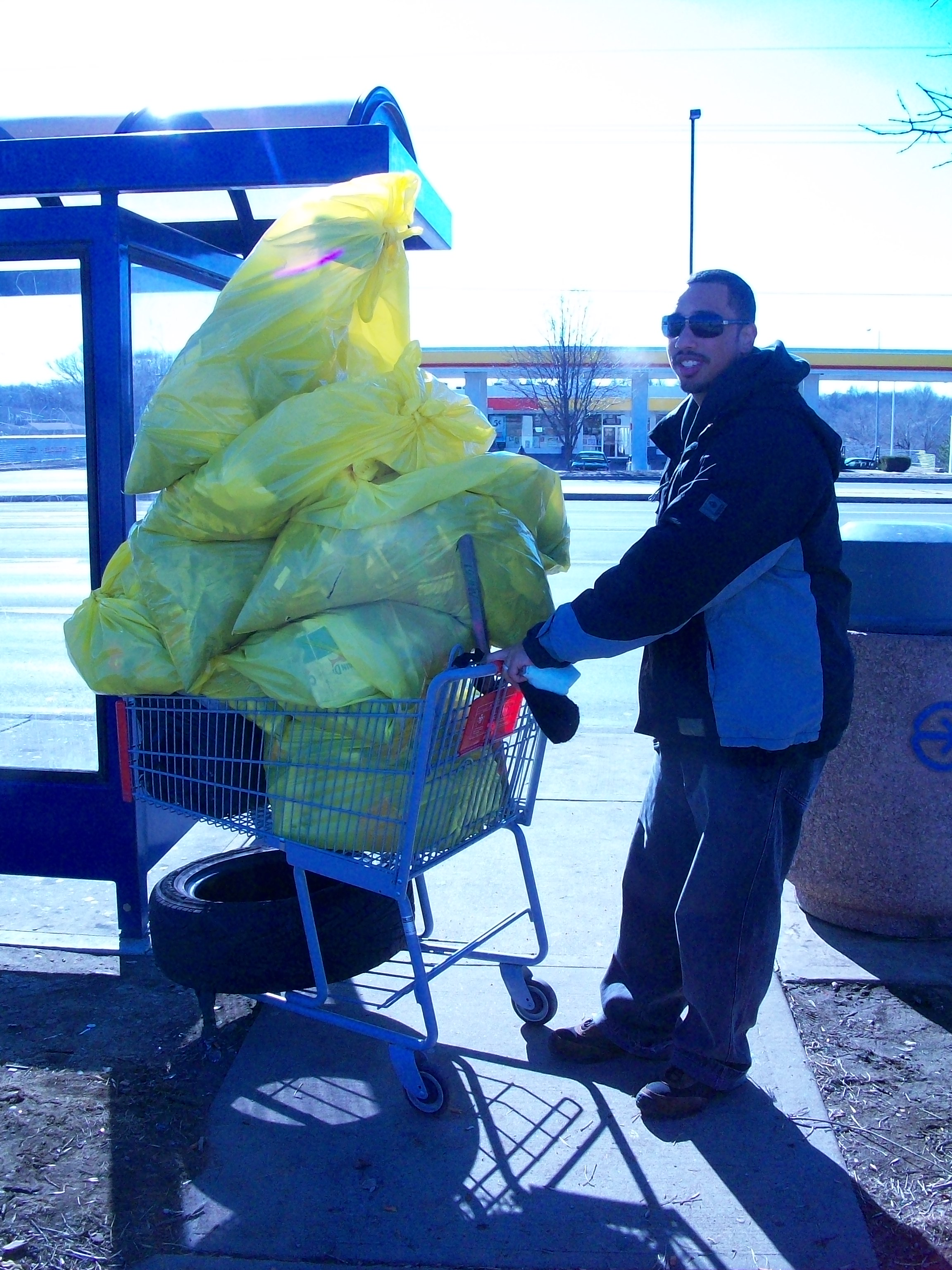 """Somebody asked me, """"How many bags of trash was that?"""" I replied, """"A lot."""""""