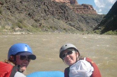 Ashley and I entering the canyon.