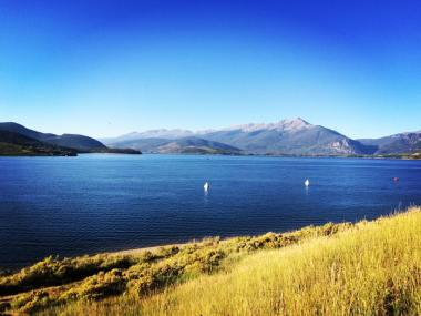 Overlooking Lake Dillon towards Frisco