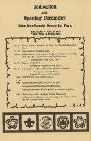 Dedication program. June 26, 1976. Series 468, Park System History Files, Box 1, Folder 62, King County Archives.