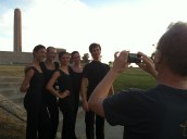 Artistic Director Devon Carney snapping a quick photo