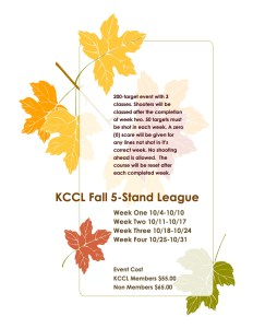 KCCL Fall League for 5-stand