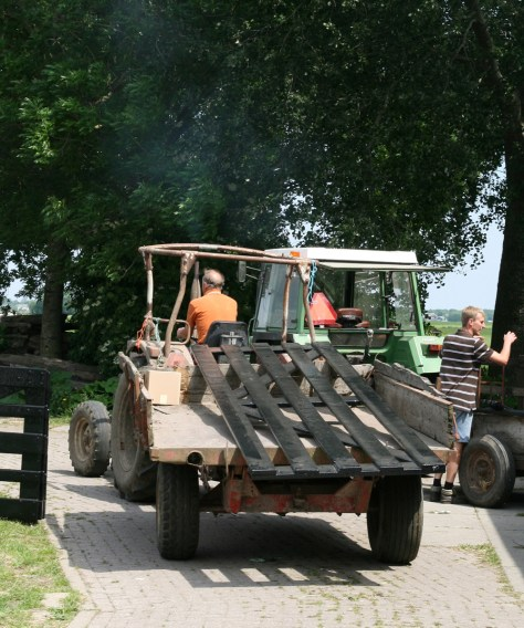 Farmers collecting their new field gates