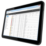 Tablet with 3CX management Console