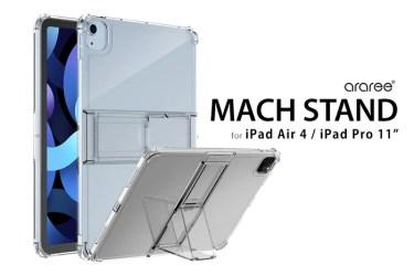 【新商品】折り畳みスタンド付きiPad Air/iPad Pro11専用クリアケース「Mach Stand Case」が発売