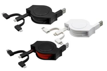 【新商品】Lightning+USB Type-C+microUSBが1本になった超タフ巻取りケーブル「OWL-CBRKMLC10」をオウルテックが発売