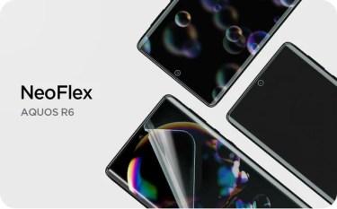 【新商品】Sharp AQUOS R6専用の液晶保護フィルム「Neoflex」が発売