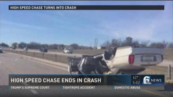 High-speed chase ends in crash | KCENTV.com