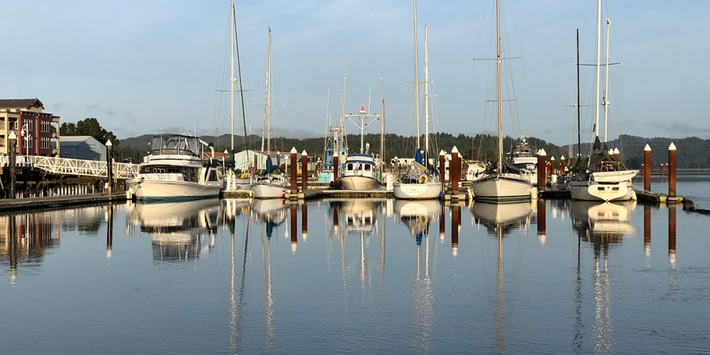 Boats on the Port of Siuslaw