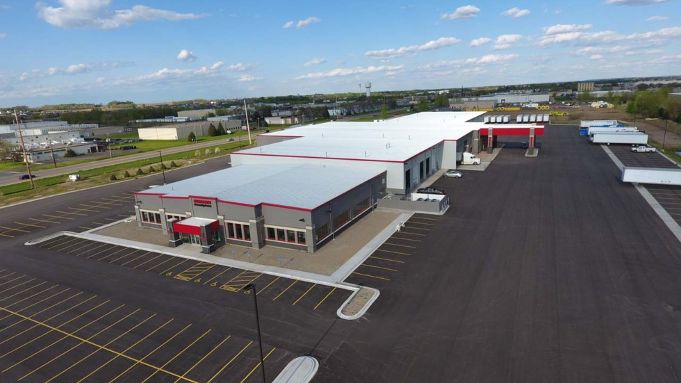 Kiehm Construction project - Interstate Companies Aerial