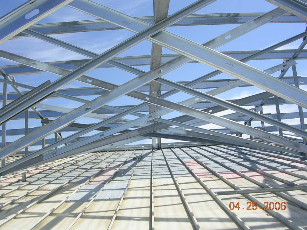 Kiehm Construction project - retrofit steel roof
