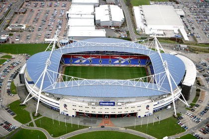 """Submitted picture. Business. Aerial view of the Reebok Stadium. Leading IT security specialist Network Defence has implemented new IP CCTV cameras across Bolton Wanderers' Reebok Stadium to help keep it a safe and secure working environment. From: """"Wes Wright"""" Forwarded message From: Priya Mistry Context Public Relations 01625 507203 Ddi Created: ? Date email received: 16.12.2008"""
