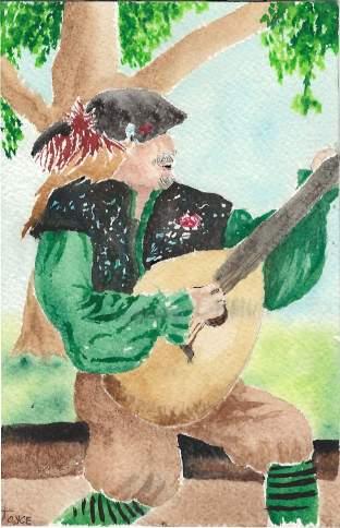 Musician Watercolor by Joyce