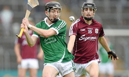 Galway's Sean Loftus in action against Limerick earlier this season. Photo: SPORTSFILE