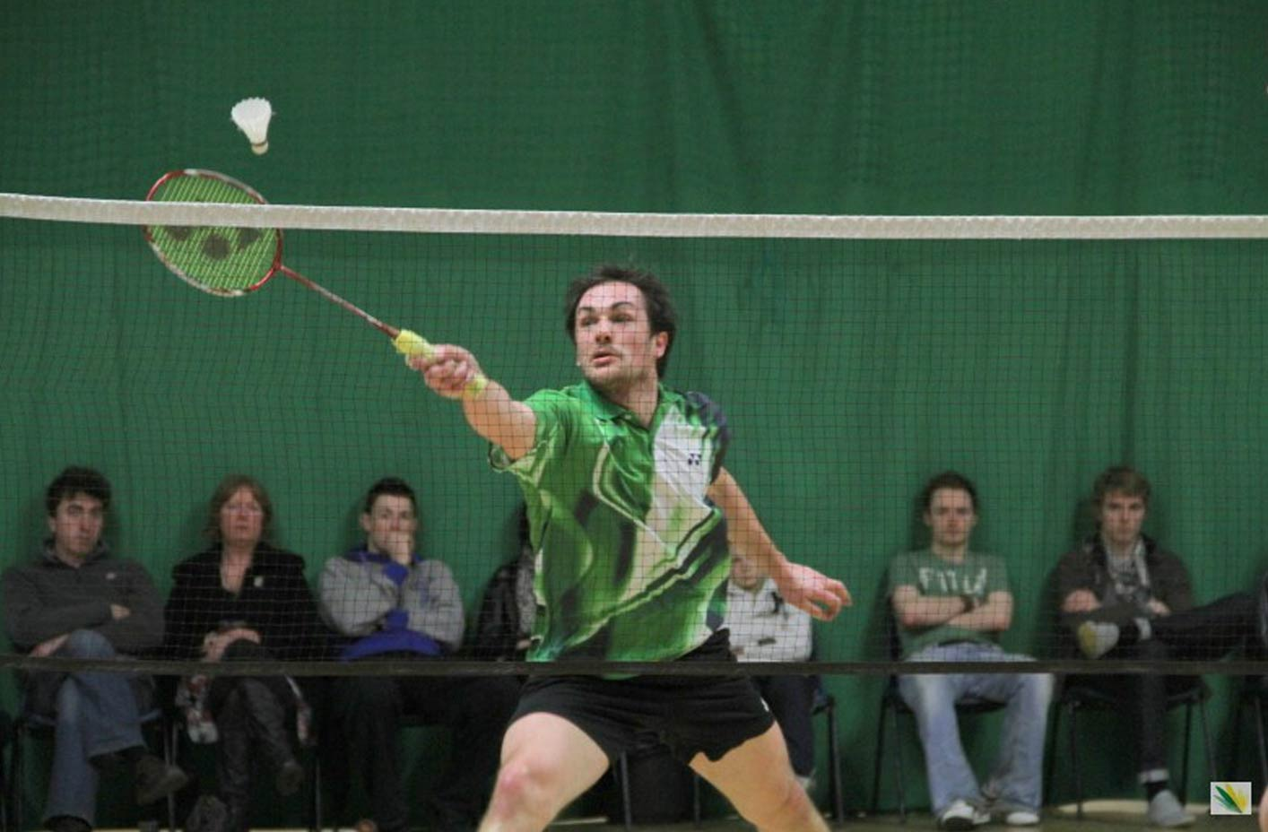 Badminaton action at the National Finals. Photo: Leinster Badminton