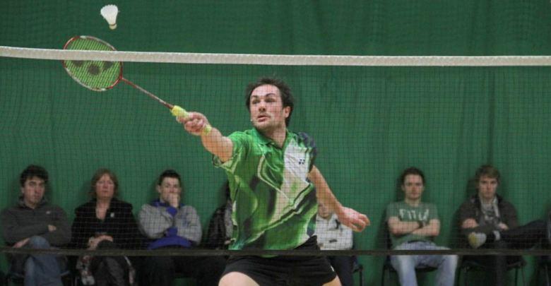 Badminaton action at the National Finals. Photo: Leinster Badminton