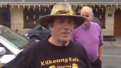 Kilkenny super fan Johnny Purcell sings a few verses in Freshford for KCLR Lunch