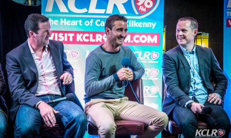 Tipperary's Brendan Cummins and Kilkenny's David Herity and Michael Kavanagh at last night's All-Ireland Preview Show in Langton House Hotel with Guinness. Photo: Ken McGuire/kenmcguirephotography.com