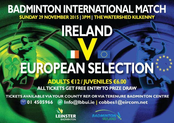 Ireland vs a European Selection at the Watershed, 29 November 2015