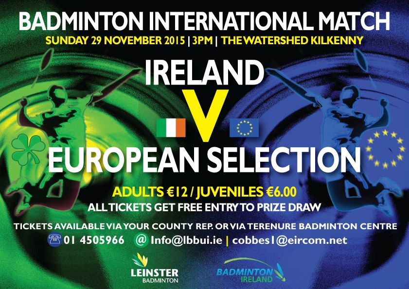 Ireland vs a European Selection at the Watershed, 29 November 2015