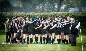 Kilkenny RFC's J1 side pictured at half time in their Leinster League Division 1A home clash against Suttonians in October 2015. Photo: Ken McGuire