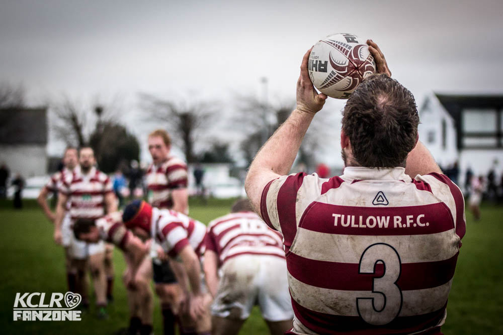 Tullow RFC at the line out. Photo: Ken McGuire/KCLR