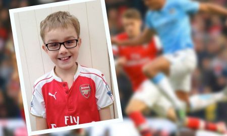 Ewan Gilsenan, 10 years old, of Inistioge will lead out Arsenal against Manchester City at The Emirates on Monday 21 December 2015.