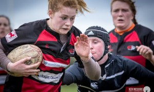Kilkenny Womens Rugby team in action against Arklow Photo: Ken McGuire