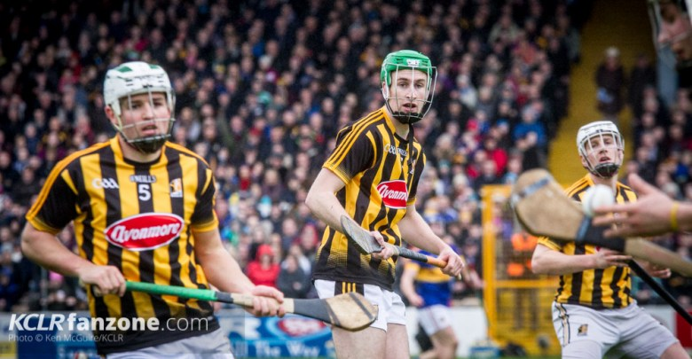 Kilkenny's Padraig Walsh and Joey Holden pictured in action against Tipperary at Nowlan Park on Sunday 21 February 2016. Photo: Ken McGuire/KCLR